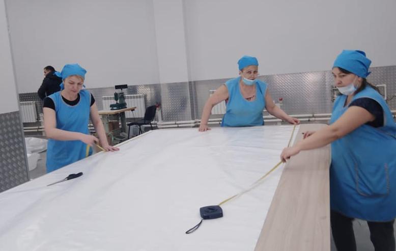 Открытие нового производственного цеха по производству вагонных вкладышей из ламинированной полипропиленовой ткани